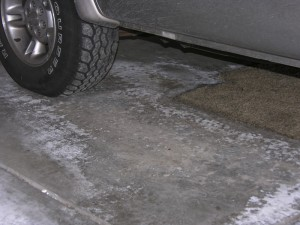 Unprotected Concrete Damaged by De-Icing Chemicals