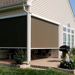 Outdoor shades that make the outdoors more bearable in the summer.