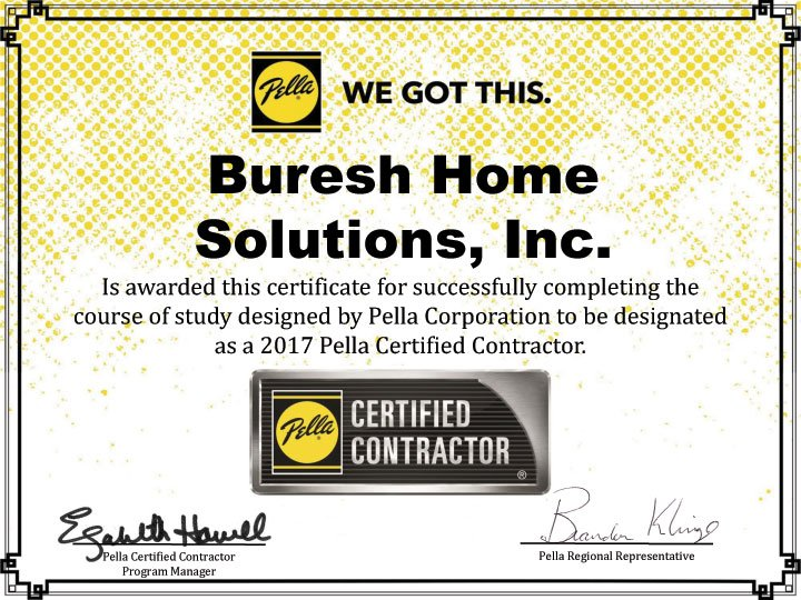 Pella Certified Contractor - Buresh Home Solutions