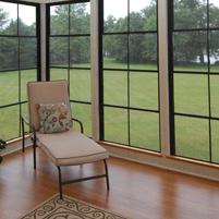 Vertical four-track panels for Eze-breeze sun room enclosures