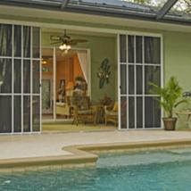 Garage door screens for Eze-breeze sun room enclosures