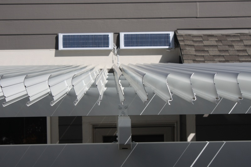 Louvered Roof Solar Panel