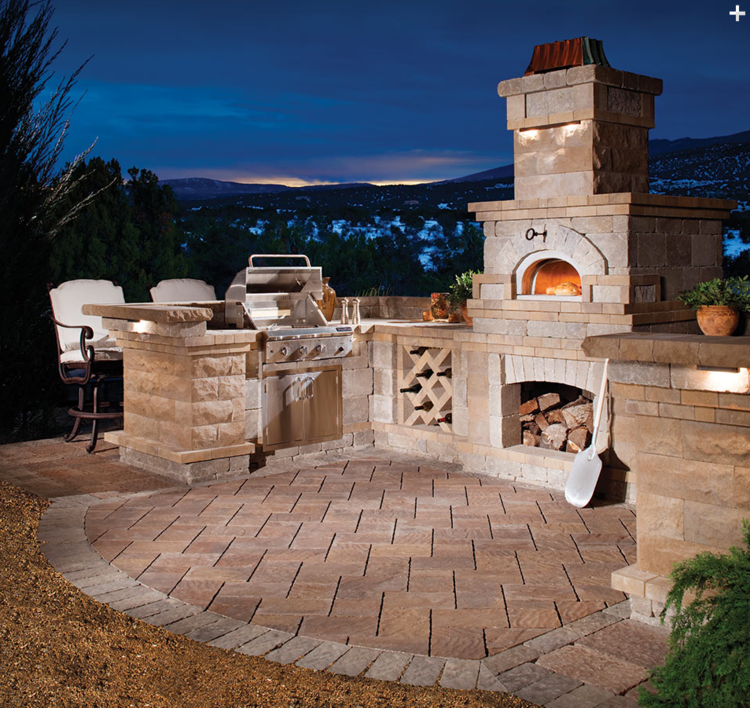 Brick Outdoor Kitchen: Outdoor Stone Kitchens And Brick Ovens